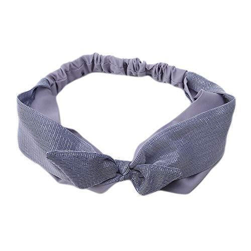 Color Matching Bow Hairband Mesh Korean Style Cloth Fabric Sweet Beauty Hairband (Color - Blue) ()