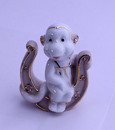Feng Shui Monkey with Horseshoe - Hand Crafted and Decorated Fine Chinese Porcelain, Figurine 2152513 (3)