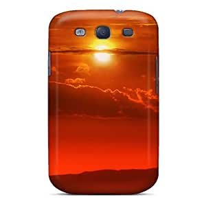 LUCKCom Galaxy S3 Hybrid Tpu Case Cover Silicon Bumper Amazing Sunset