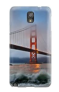 Heidiy Wattsiez's Shop Galaxy Note 3 Well-designed Hard Case Cover Golden Gate Bridge Protector