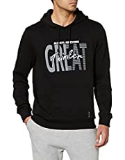 Great Baskılı Slim Fit Kapüşonlu Sweatshirt