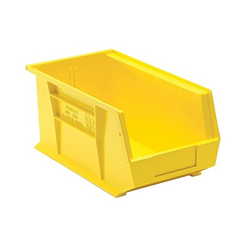 Quantum QUS240 Plastic Storage Stacking Ultra Bin, 14-Inch by 8-Inch by 7-Inch, Yellow, Case of 12