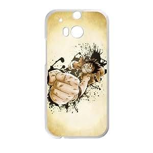 Caso HTC uno M8 Covers UNA PIEZA Blanco caja del teléfono Durable Luffy plástico I8K1QO