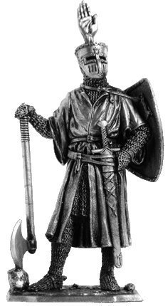 The German Knight Tin Toy Soldiers Metal Sculpture Miniature Figure Collection 54mm M195 scale 1//32