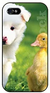 iPhone 4S Cute pals, duck - black plastic case / dog, animals, dogs