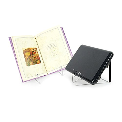 Book Stands,Fold-n-Stow Metal Bookstand,Music Book Easel Display Holder,Adjustable Reading Stand,Small Book Rest for Kitchen Counertops,Bookrest for Hardcover Textbook,Ipad,Document,Cookbook,Recipe