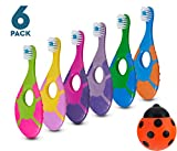 6 Pack - Baby Toothbrush, 0-2 Years, Soft Bristles, BPA Free | Toddler Toothbrush, Infant Toothbrush, Training Toothbrush, Includes Free Toothbrush Holder