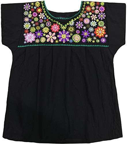 (YZXDORWJ Embroidered Mexican Peasant Blouse with Short Sleeves (2XL, 260) )