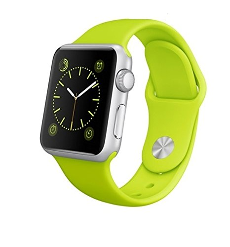 Apple Watch 38mm Aluminum Case with Green Sport Band (Import Version)