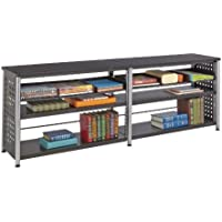 Safco Products 1600BL Scoot Credenza with 2 Shelves On Each Side, Black
