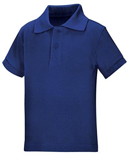 (Classroom School Uniforms Kids' Toddler Preschool Unisex Short Sleeve Pique Polo, sos Royal Blue, 4T)