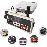 Mini consoles de jogos retrô clássicos, saída AV, vídeo game de 8 bits, jogos integrados de 620 com 2 controles…
