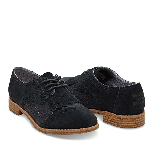 8b48e908c9d0 Toms Women's Brogue Dress Lace-up Black Suede/wool Kiltie Oxford (9) - Buy  Online in Oman. | Shoes Products in Oman - See Prices, Reviews and Free  Delivery ...