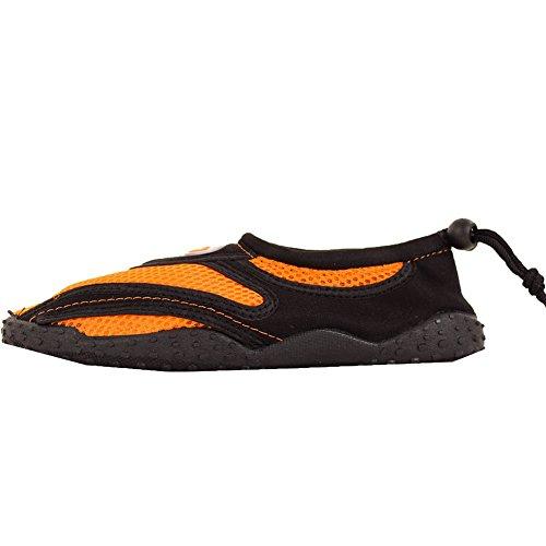 Cordon Femmes Slip Sur Aqua Chaussettes Chaussures Deau Orange