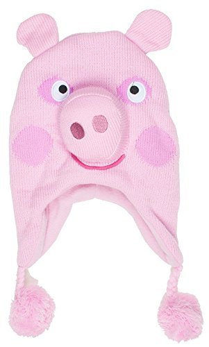 Peppa Pig Pink Peppa Scandinavian Knitted Hat with Pom Pom, Age -