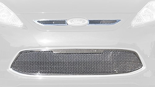 TRex Grilles 54588 Upper Class Small Mesh Stainless Polished Finish Grille Overlay for Ford Fiesta (Fine Mesh Style Grille)