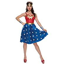 Rubies Costume Co. Inc womens Deluxe Plus Size Long Dress Wonder Woman Costume