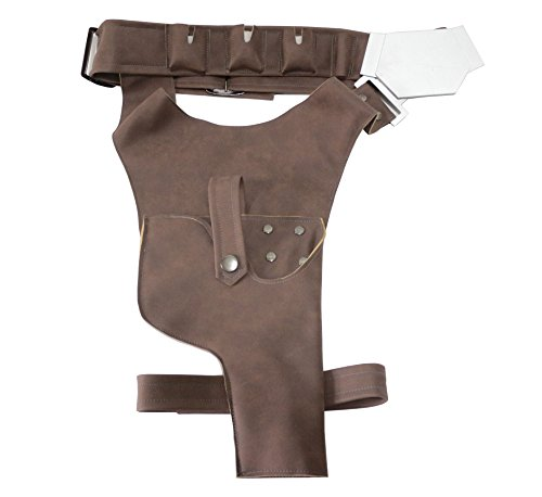 H-Solo Belt With Buckle Holster Handmade PU Prop For Cosplay Costume Accessory ()
