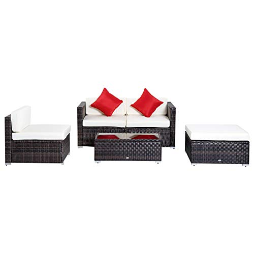 Art Deco Sectional Sofa - GraceShop Every Home Should Have Rattan Wicker Sofa Set Outdoor Patio Garden Sectional Furniture Cushioned 5PC