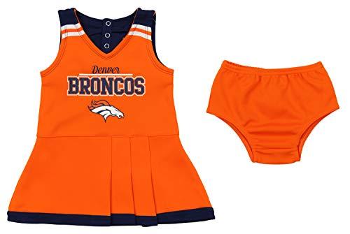 Outerstuff NFL Toddler Girls Team Color Cheerleader Dress Set, Denver Broncos -