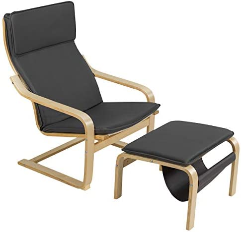 Giantex Wooden Lounge Chair