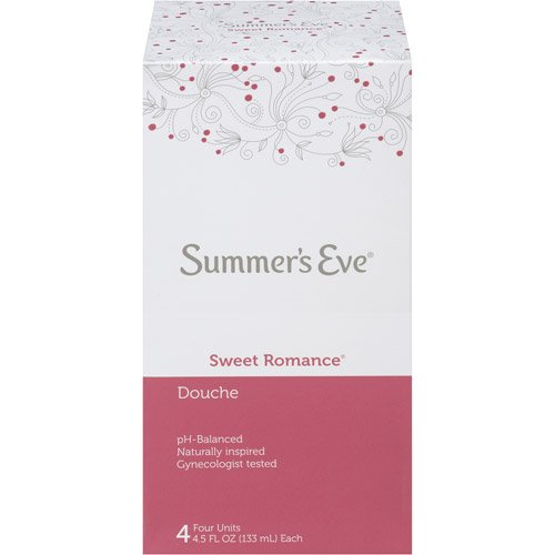 - Summer's Eve Douche, Sweet Romance,PH Balanced, Dermatologist & Gynecologist Tested, 4-4.5 Fluid Ounce Units Per Box, 1 Box Total-Packaging May Vary