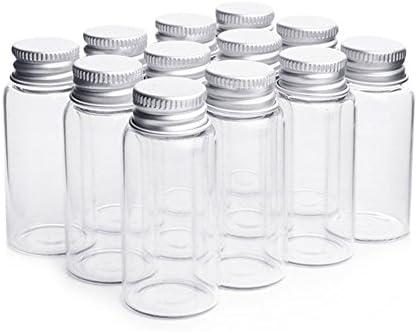 10 pcs claro botellas de vidrio mensaje que deseen botellas maquillaje cosméticos muestra jarra de botellas aceites esenciales Vial Contenedor con tapón de ...