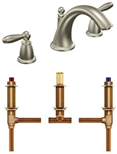 Moen T4943bn 4792 Brantford Two Handle Low Arc Roman Tub Faucet With Valve Brushed Nickel