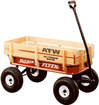 042385907758 - Radio Flyer Full Size All-Terrain Steel & Wood Wagon carousel main 0