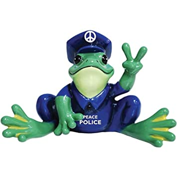 NEW PEACE FROGS WORLD PEACE ORNAMENT