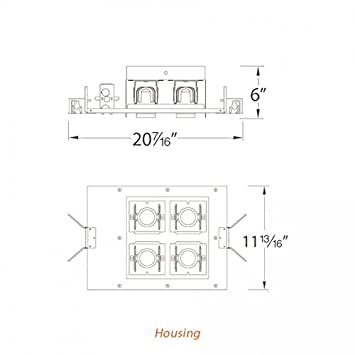 Black 2700K Spot Beam 2 WAC Lighting MT4LD216NE-S27-BK LED Precision Multiple Two Light New Construction Non-IC Housing