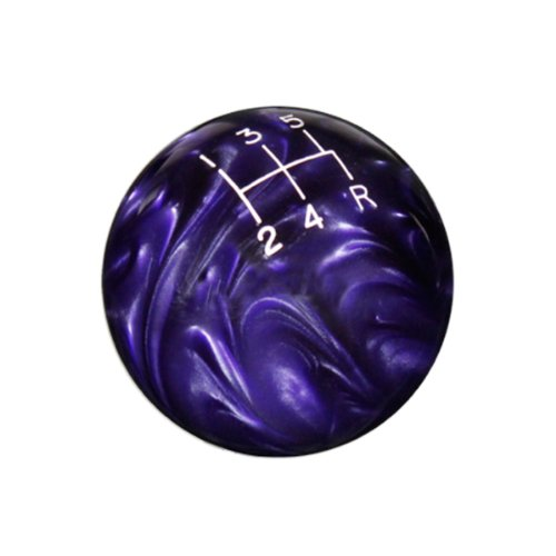 5 Speed Pattern (Speed Dawg (SK524NL-CL-5RDR) Classic Series Purple Shift Knob with White Engraved 5-Speed Pattern)
