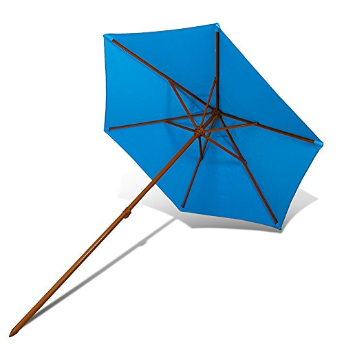 Copa Brand Outdoor Patio & Beach Premium Umbrella Certified by Skin Cancer Foundation UV Protection UPF 50+ Reinforced with Metal Ribs