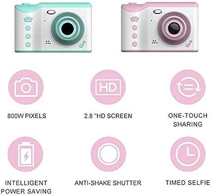 PNBHP Children Camera 2.8 Bundle : Add 16G Memory Card, Color : Green