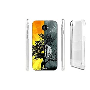FUNDA CARCASA TREE NOTTE GIORNO PARA HTC DESIRE 601