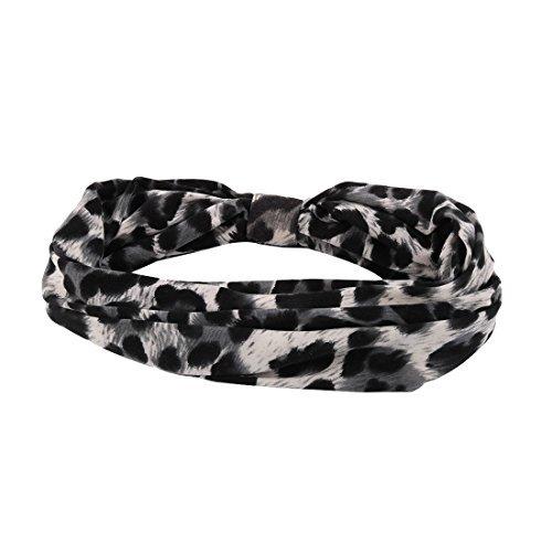 eDealMax imprim lopard Runner Yoga Bande lastique cheveux Wrap Sweatband Bandana Bandeau