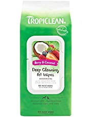 COSMOS Tropiclean 010109 Deep Cleaning Wipes for Pets
