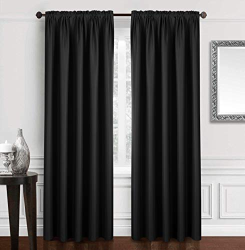 96 black curtain panel - 3