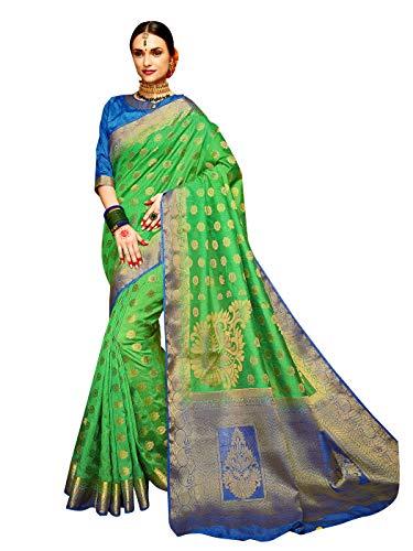 Sarees for Women Banarasi Art Silk Woven Saree l Indian Wedding Gift Sari with Unstitched Blouse