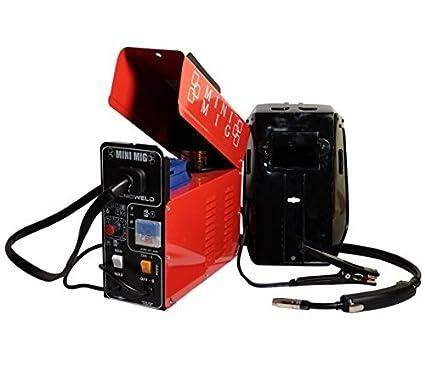 Soldador de hilo no gas compacto 95 Amp TecnoWeld by Awelco – Mini MIG 11002