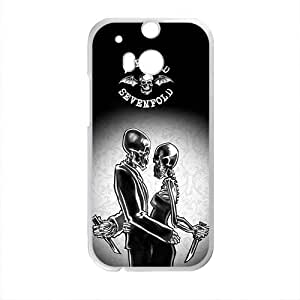 Creative Skeleton Pattern Fahionable And Popular Back Case Cover For HTC One M8 by ruishername
