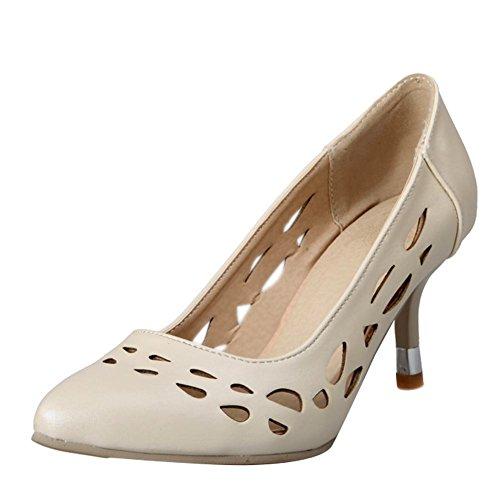 Shoes Mostra Kitten Off Sweet white Shine heel Womens Court Pu wqZUF