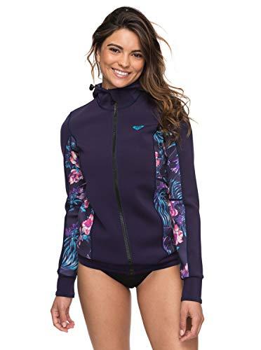 Fleece Hooded Wetsuit - Roxy Womens 1Mm Syncro - Hooded Front Zip Wetsuit Jacket - Women - 2 - Blue Blue Ribbon 2