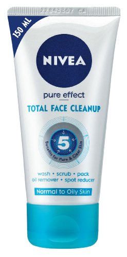 Nivea Pure Effect Total Face Cleanup, 150ml
