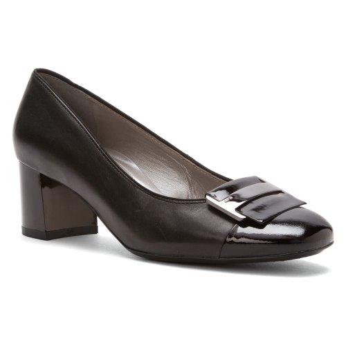 ara Women's Luna Black Leather/Patent Toe Pump UK 7 (US Women's 9.5) M