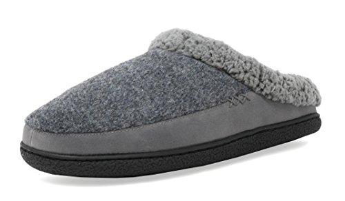 Slippers Dreams (DREAM PAIRS Men's Aidan Grey Memory Foam Slip on Slippers Winter House Shoes Size 12 M US)