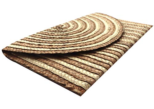Flat Purse Women��s Clutch Peruvian Handmade Raymis Straw Brown Natural qx1H6XxOw