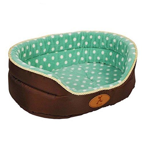 Green-dot M Green-dot M FidgetFidget Pet Beds Reversible Dog Nesting Supply Wearproof Warmer Mat Kitten Puppy Cushion Green-dot M