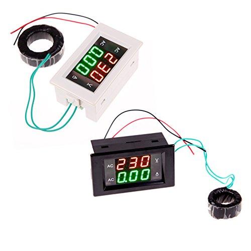 AMZVASO - AC Digital Ammeter Voltmeter LCD Panel Amp Volt Meter 100A 300V 110V 220V