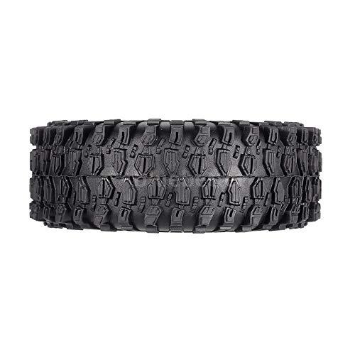 FidgetGear 4Pcs AX-5020F 1.9 Inch 120mm Tires + Metal Hub for 1/10 Rock Crawler W3A8 from FidgetGear